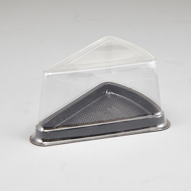 BPA Free Black Base Disposable Sandwich Salad Clear Box Container