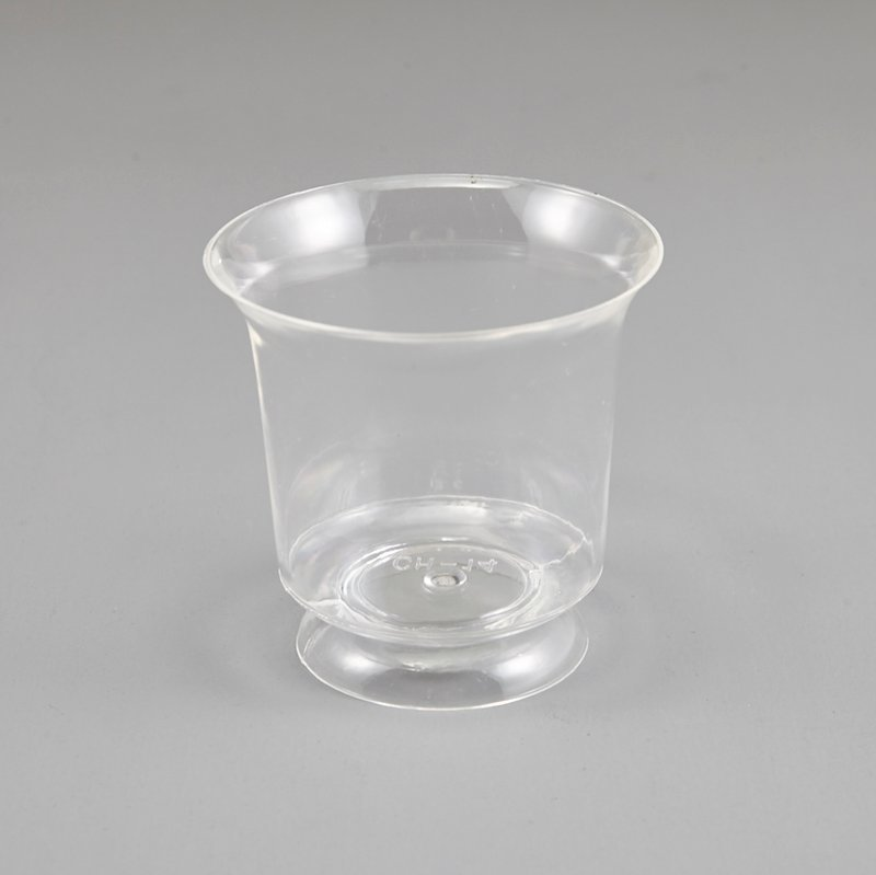 Clear Plastic Mini Flared Mousse Cup  BLACK CHERRY ICE CREAM ADVERTISING