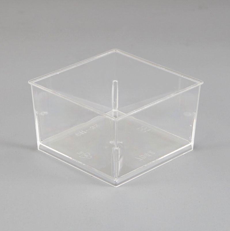 Square Clear Plastic Cups for Mousse,Dessert Cups 145ml