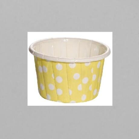 Yellow Color Background Design PET Film Paper Cupcake CUP  Food Grade Material