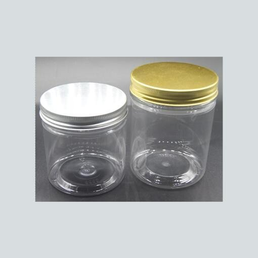 6OZ - 32OZ  BPA free Crystal Clear PET Plastic Jars Round Pot Wide Mouth  Plastic Storage Containers with Screw Cap Lid