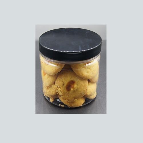 PET Plastic Jars Round transparent Pot  Food Containers with Black Screw Cap Lid