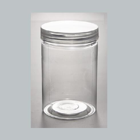 PET Plastic Jars Round transparent Pot  Food Containers with Clear Screw Cap Lid
